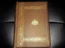 ANTIQUE GILDED HB BOOK 1893 ILLUSTRATED PICTURESQUE ENGLAND WARNE L VALENTINE